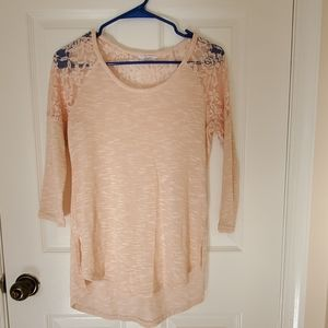 Small size top 3/4long sleeved